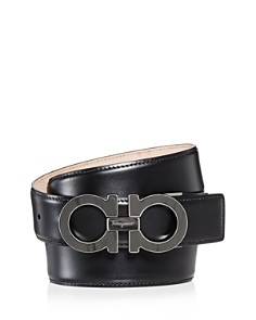 Salvatore Ferragamo - Men's Double Gancini Leather Belt