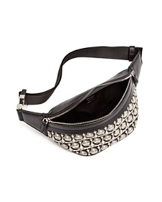 Salvatore Ferragamo - The Gancini Jacquard Belt Bag