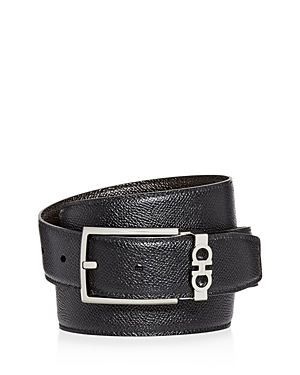 Salvatore Ferragamo Men's Gancini Keeper Reversible Leather Belt