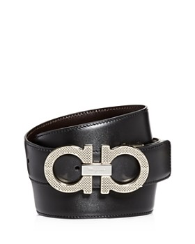 5adbed28bc1 Salvatore Ferragamo - Men's Etched Double Gancini Buckle Reversible Leather  Belt ...
