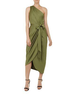 Ted Baker Gabie One Shoulder Midi Dress Bloomingdales