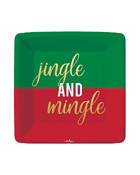 Design Design - Jingle And Mingle Paper Dessert Plates, Set of 8