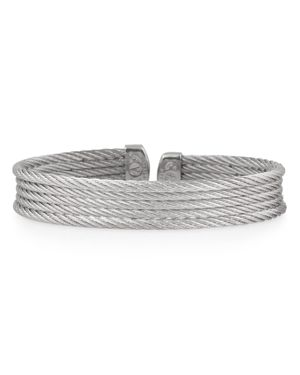ALOR Cable Layer Cuff in Silver