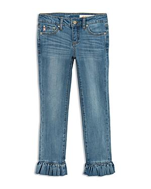 ag Adriano Goldschmied Kids Girls' Darby Skinny Ankle Jeans with Ruffled Hem - Big Kid