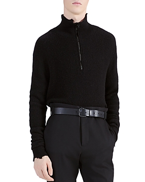 Iro Lenny Distressed Half-Zip Sweater