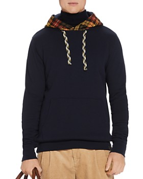 Scotch & Soda - Plaid-Hood Sweatshirt