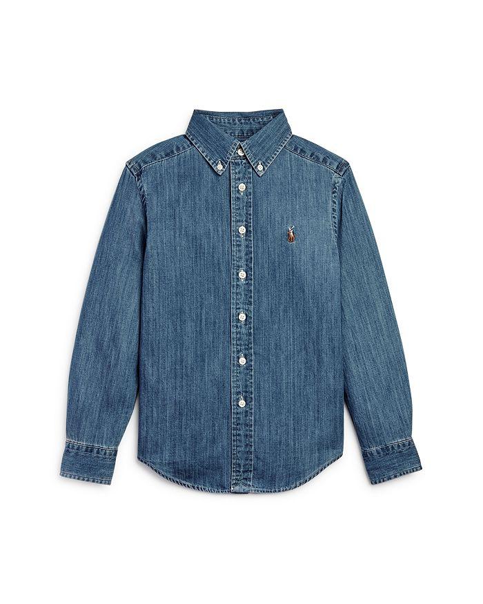 Ralph Lauren - Boys' Denim Button-Down Shirt - Little Kid, Big Kid