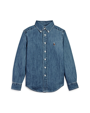 Ralph Lauren Boys Denim ButtonDown Shirt  Big Kid