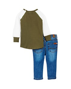 7 For All Mankind - Boys' Thermal Shirt & Skinny Jeans Set - Baby