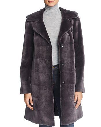 Maximilian Furs - Reversible Hooded Sheared Mink Fur Coat