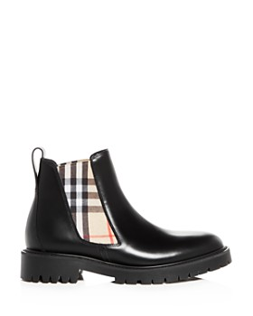 Burberry - Women's Allostock Leather Booties