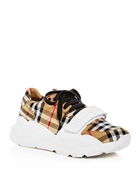 29f03fffaba Burberry - Women s Regis Vintage Check Platform Sneakers ...