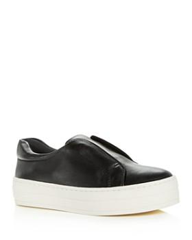 619555b5f4f J Slides - Women s Heidi Leather Slip-On Platform Sneakers ...