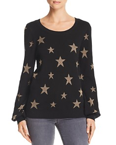 CHASER - Metallic-Star Pullover Sweater