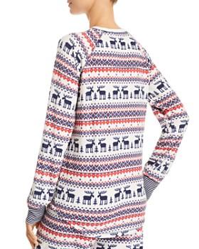 PJ Salvage - Winter Escape Fairisle Thermal Fleece Long-Sleeve Top