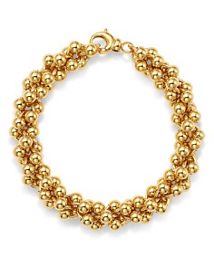 Bloomingdale's - Cluster Bead Bracelet in 14K Yellow Gold - 100% Exclusive