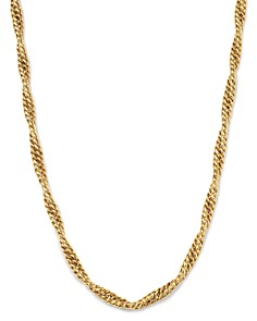 "Bloomingdale's - Twisted Curb Chain Necklace in 14K Yellow Gold, 17.75"" - 100% Exclusive"