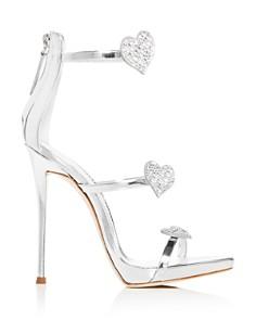 Giuseppe Zanotti - Women's Swarovski Crystal Heart Strappy High-Heel Sandals