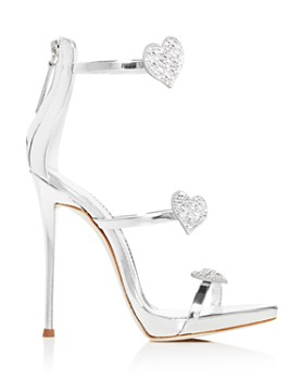 400bcd049b4e2 ... Giuseppe Zanotti - Women's Swarovski Crystal Heart Strappy High-Heel  Sandals