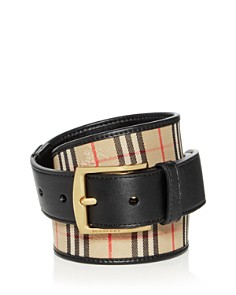 Burberry - Gray 1983 Check Belt