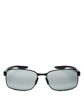 Maui Jim - Men's Shoal Polarized Mirrored Square Sunglasses, 57mm