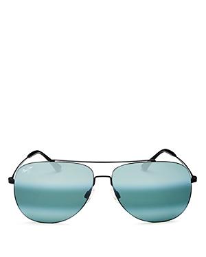 Maui Jim Men's Cinder Cone Polarized Mirrored Brow Bar Aviator Sunglasses, 58mm