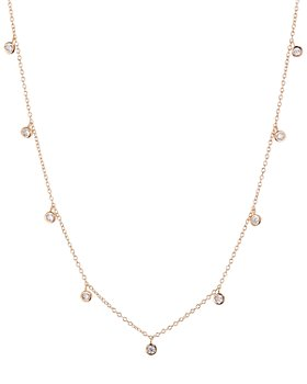 "AQUA -  Multi Pendant Chain Necklace in 18K Gold-Plated Sterling Silver, 18K Rose Gold-Plated Sterling Silver or Sterling Silver, 14"" - 100% Exclusive"