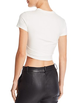 152dcc8dc6be0 ... alexanderwang.t - Twist-Front Cropped Tee