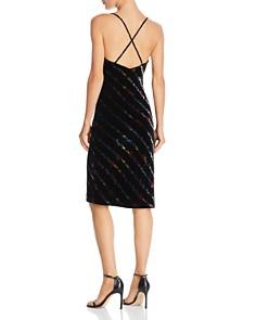 MILLY - Floral Velvet Slip Dress