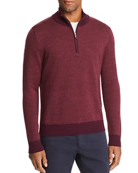 Brooks Brothers - Birdseye Half Zip Sweater