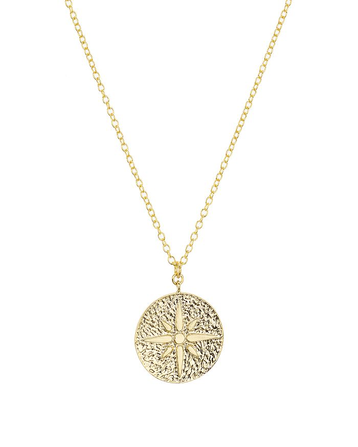 afab98958e0 Argento Vivo North Star Medallion Pendant Necklace, 16