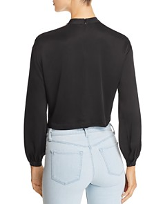 Marled - Shoulder-Cutout Cropped Blouse