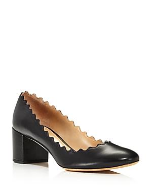 72ba05498 EAN 3610926268087 product image for Chloe Women s Lauren Round Toe Leather  Block-Heel Pumps ...