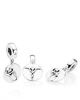 PANDORA - Dazzling Stethoscope Sterling Silver Drop Charm