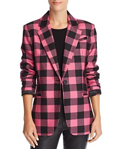 MILLY - Eva Plaid Blazer