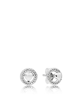 Pandora Forever Hearts Sterling Silver Cubic Zirconia Stud Earrings