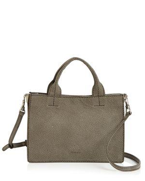 STEVEN ALAN Brady Medium Leather Satchel in Gray