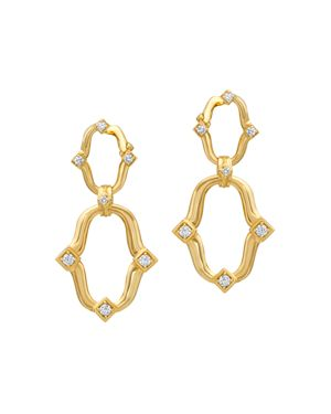 GUMUCHIAN 18K Yellow Gold Secret Garden Diamond Earrings in White/Gold