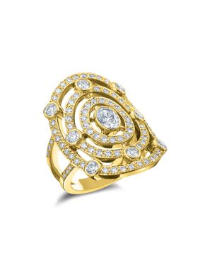 GUMUCHIAN 18K Yellow Gold Carousel Diamond Ring in White/Gold