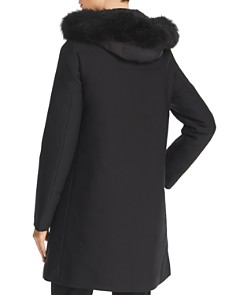 Herno - City Glam Fur Trim Coat