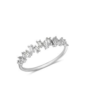 KC DESIGNS 14K White Gold Mosaic Diamond Stacking Ring