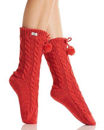 UGG® - Pompom Fleece-Lined Socks