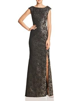Adrianna Papell - Metallic Jacquard Gown