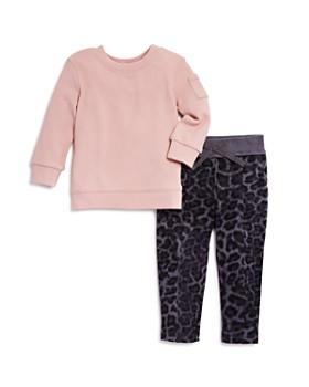 Splendid - Girls' Waffle-Knit Top & Leopard-Print Pants Set - Baby