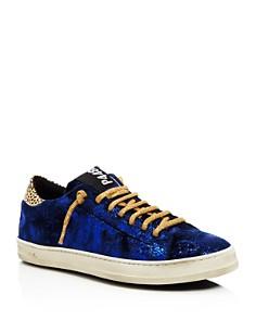 P448 - Women's John Velvet Low Top Sneakers