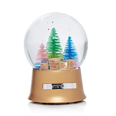 Bloomingdale's - Big Brown Bag Glitter Tree Musical Snowglobe - 100% Exclusive