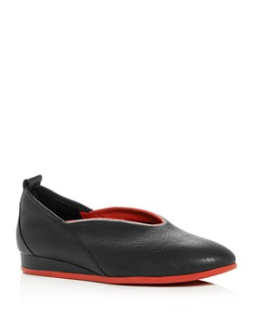 Arche - Women's Piassy Leather Demi-Wedge Flats