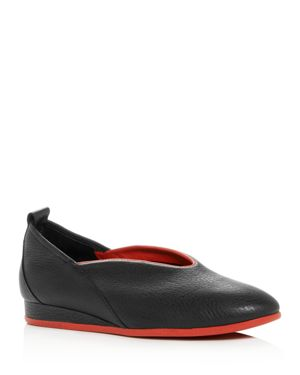 Arche Women's Piassy Leather Demi-Wedge Flats