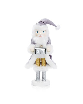 Bloomingdale's - Advent Silver Santa Nutcracker - 100% Exclusive
