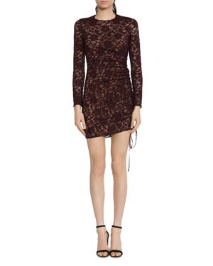 Bailey 44 Disinformation Ruched Drawstring Lace Dress